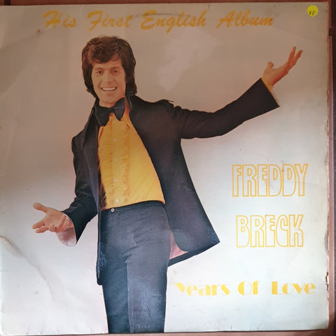 Freddy Breck ‎– Years Of Love  - Vinyl LP Record - Opened  - Very-Good Quality (VG)