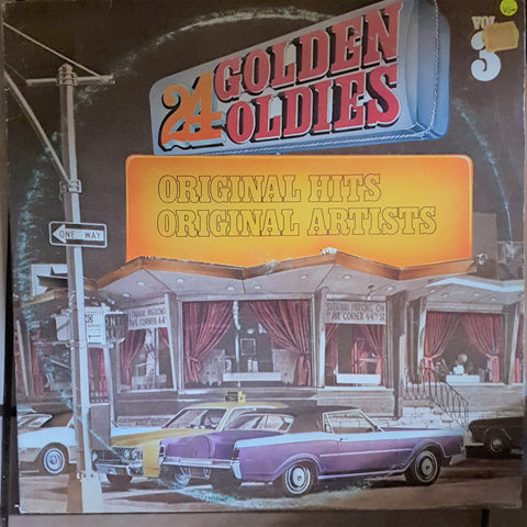 24 Golden Oldies - Vol 3 - Original Hits - Original Artists -  Double Vinyl LP Record - Very-Good+ Quality (VG+)