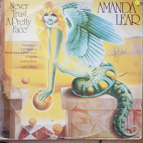 Amanda Lear - Never Trust A Pretty Face - Vinyl LP Record - Opened  - Fair Quality (F)