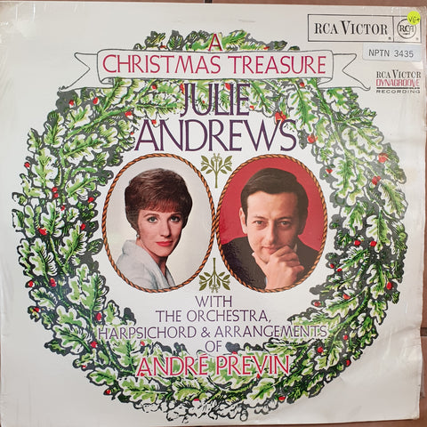 Julie Andrews With The Orchestra, Harpsichord & Arrangements Of André Previn ‎– A Christmas Treasure -  Vinyl LP Record - Very-Good+ Quality (VG+)