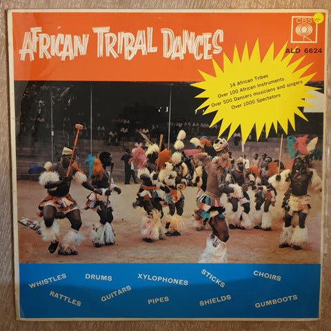 African Tribal Dances - 14 African Tribes  - Over 100 African Instruments - Vinyl LP Record - Opened  - Very-Good Quality (VG)