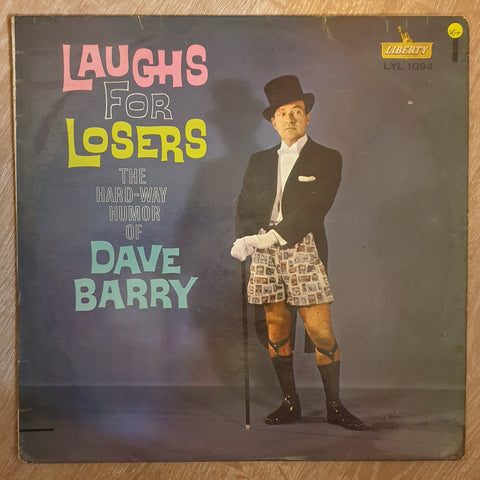 Dave Barry – Laughs For Losers - Vinyl LP - Opened  - Very-Good+ Quality (VG+)
