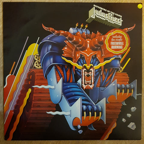 Judas Priest ‎– Defenders Of The Faith - Vinyl LP - Opened  - Very-Good+ Quality (VG+)