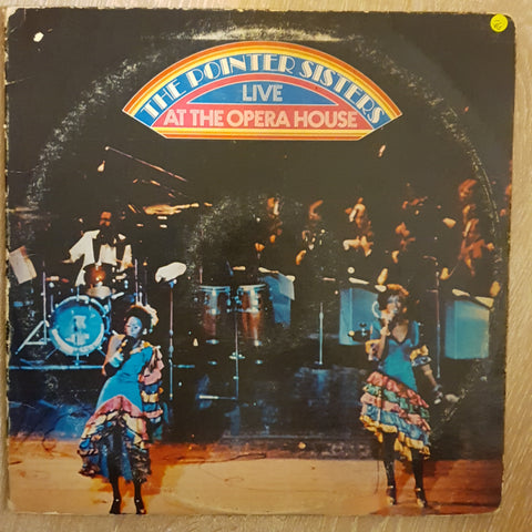 The Pointer Sisters Live At The Opera House -  Vinyl Record - Opened  - Very-Good- Quality (VG-)