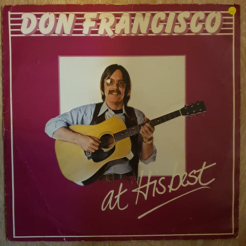 Don Francisco - At His Best  ‎– Vinyl LP Record - Opened  - Good+ Quality (G+)