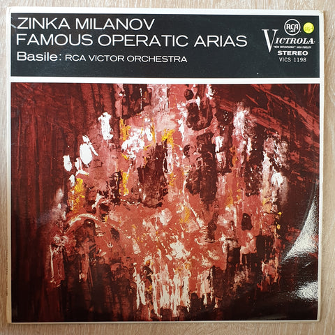 Milanov ‎– Milanov Famous Operatic Arias -  Vinyl LP Record - Very-Good+ Quality (VG+)