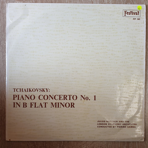 Tchaikovsky - Piano Concerty Concerto No 1 in B Flat Minor - Julius Katchen - London Symphony Orchestra - Vinyl LP Record - Opened  - Very-Good Quality (VG) - C-Plan Audio