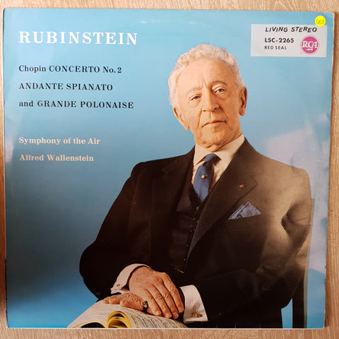 Artur Rubinstein, Chopin ‎– The Rubinstein Story (Concerto No. 2 And Andante Spianato And Grande Polonaise) ‎- Vinyl LP Record - Very-Good+ Quality (VG+)