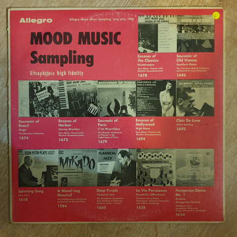 Mood Music Sampling - Ultraphonic High Fidelty  -  Vinyl LP Record - Opened  - Good Quality (G)