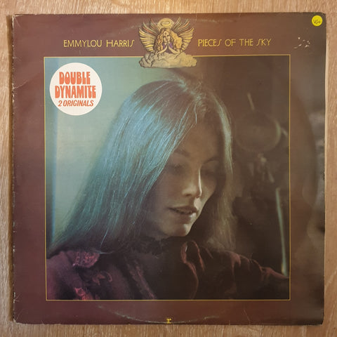 Emmylou Harris - Double Dynamite 2 Albums - Pieces of The Sky/Elite Hotel - Double Vinyl LP Record - Very-Good+ Quality (VG+)