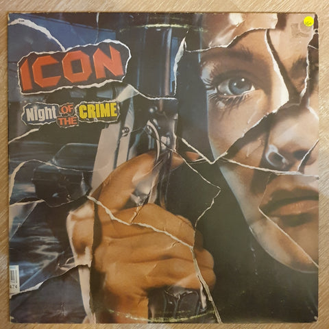 Icon ‎– Night Of The Crime –  Vinyl LP Record - Very-Good+ Quality (VG+)