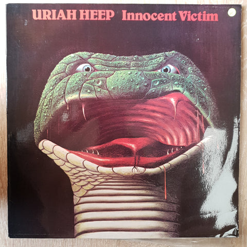 Uriah Heep  - Innocent Victim - Vinyl LP Record - Opened  - Very-Good- Quality (VG-)