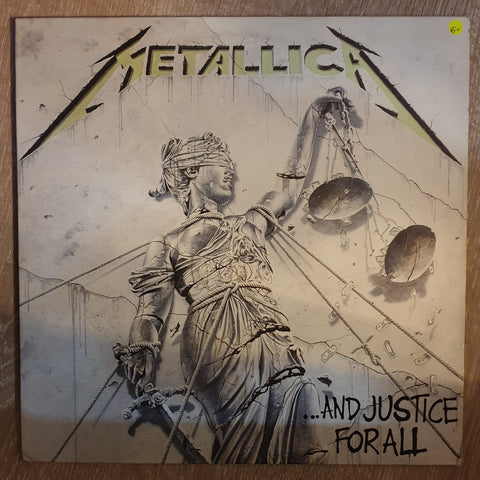 Metallica ‎– ...And Justice For All - Vinyl LP Record - Very-Good+ Quality (VG+)