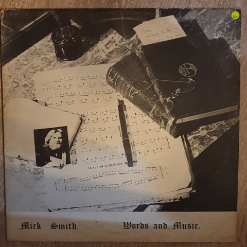 Mick Smith ‎– Words And Music - Vinyl LP Record - Very-Good+ Quality (VG+)