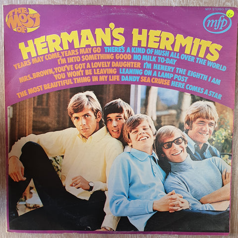 Herman's Hermits ‎– The Most Of Herman's Hermits -  Vinyl LP Record - Very-Good+ Quality (VG+) - C-Plan Audio