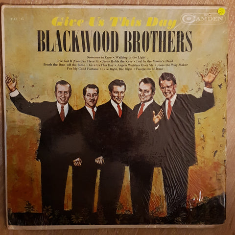 Blackwood Brothers ‎– Give Us This Day - Vinyl LP Record - Opened  - Very-Good- Quality (VG-)