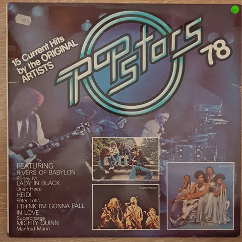 Various - Pop Stars '78 - Original Artists - Vinyl LP Record - Opened  - Very-Good+ Quality (VG+)