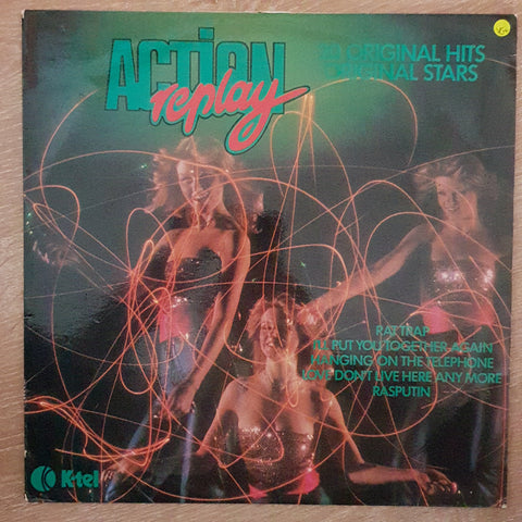 Action Replay - K-Tel - Various Artists - Original Hits - Vinyl LP Record - Very-Good+ Quality (VG+)