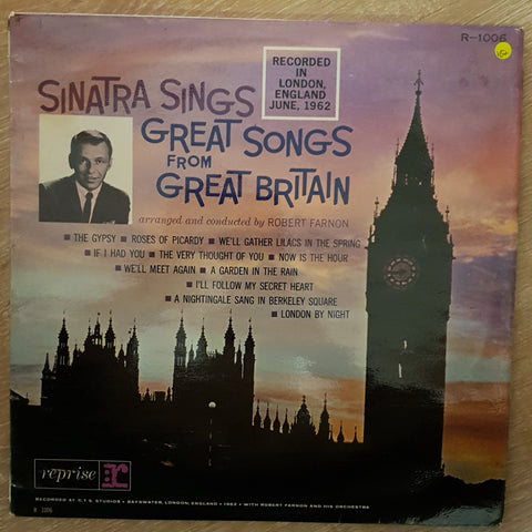 Frank Sinatra ‎– Sinatra Sings Great Songs From Great Britain - Vinyl LP Record - Very-Good+ Quality (VG+)