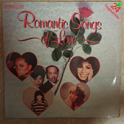 Romantic Songs Of Love  - Original Artists - Double Vinyl LP Record - Very-Good+ Quality (VG+)