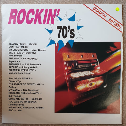 Rockin' 70's - Various - Original Artists - Vinyl LP Record - Very-Good+ Quality (VG+)
