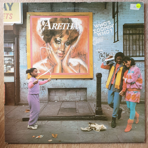 Aretha Franklin ‎– Who's Zoomin' Who? - Vinyl LP Record - Very-Good+ Quality (VG+)
