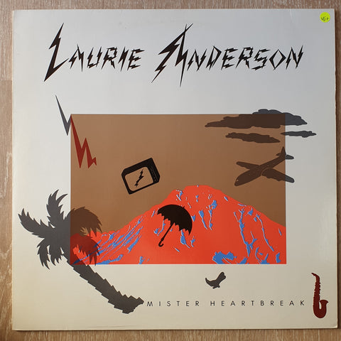 Laurie Anderson ‎– Mister Heartbreak - Vinyl LP Record - Very-Good+ Quality (VG+)