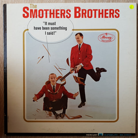 Smothers Brothers ‎– It Must Have Been Something I Said! - Vinyl LP Record - Opened  - Very-Good Quality (VG)