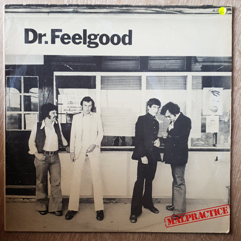 Dr. Feelgood ‎– Malpractice - Vinyl LP Record - Very-Good+ Quality (VG+)