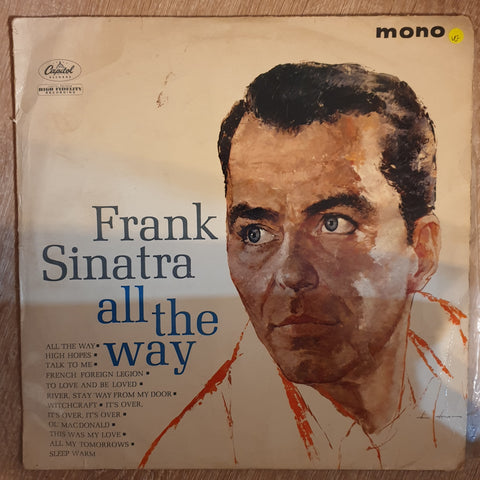 Frank Sinatra ‎– All The Way - Vinyl LP Record - Opened  - Very-Good Quality (VG)