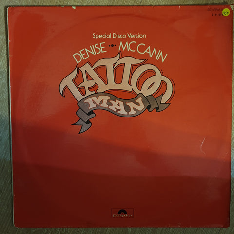 Denise McCann ‎– Tattoo Man -  Vinyl  Record - Very-Good+ Quality (VG+)