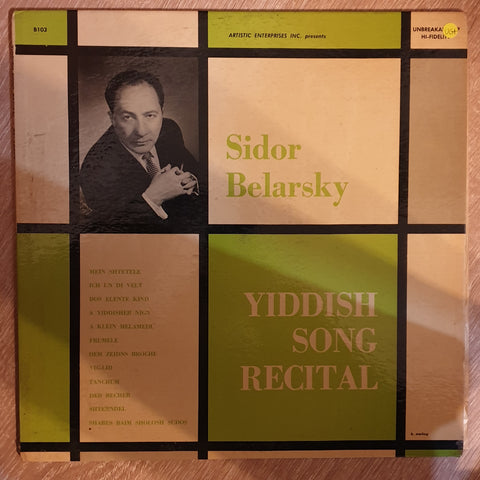 Sidor Belarsky ‎– In A Yiddish Song Recital -  Vinyl Record - Very-Good+ Quality (VG+)