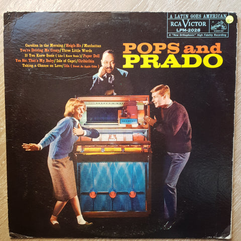 Perez Prado And His Orchestra ‎– Pops And Prado -  Vinyl Record - Very-Good+ Quality (VG+)