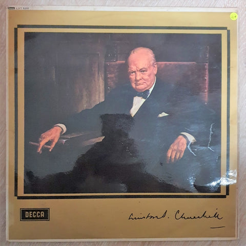 The Voice of Winston Churchill Collectors LP - Vinyl LP - Opened  - Very-Good+Quality (VG+)