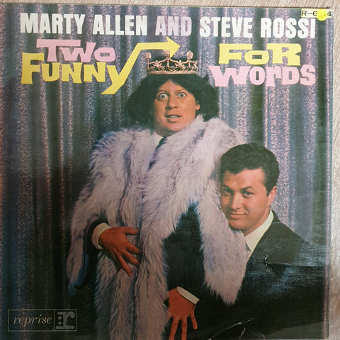 Marty Allen, Steve Rossi ‎– Two Funny For Words -  Vinyl LP - Opened  - Very-Good+ Quality (VG+)