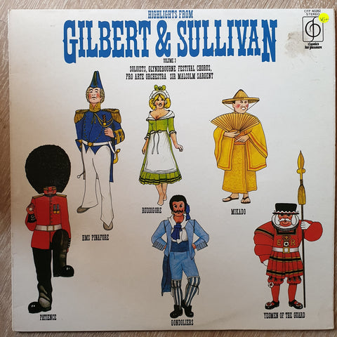Gilbert & Sullivan, Glyndebourne Festival Chorus, Pro Arte Orchestra- Sir Malcolm Sargent ‎– Highlights From Gilbert & Sullivan Volume 3 -  Vinyl LP Record - Very-Good+ Quality (VG+)