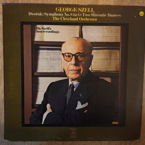 Dvořák - George Szell, The Cleveland Orchestra ‎– Symphony No. 8 In G • Two Slavonic Dances - Vinyl Record - Opened  - Very-Good+ Quality (VG+)