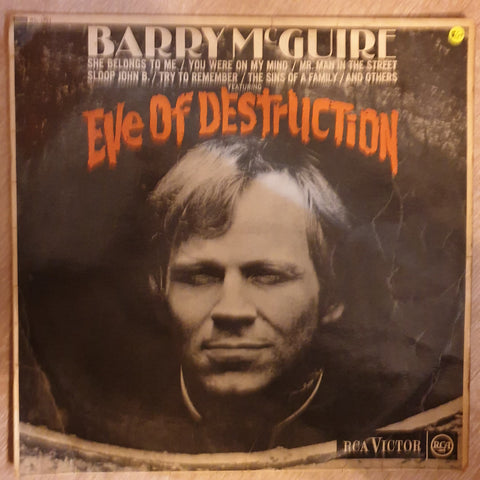 Barry McGuire ‎– Eve Of Destruction‎–  Vinyl LP Record - Opened  - Good+ Quality (G+)