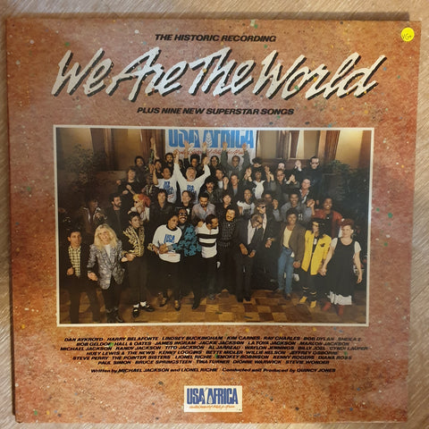 We Are The World - USA For Africa ‎– Historic Recording - Vinyl Record - Opened  - Very-Good+ Quality (VG+)