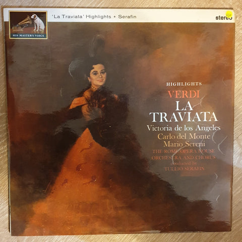 Giuseppe Verdi - Victoria De Los Angeles, Carlo Del Monte– La Traviata Highlights - Vinyl Record - Opened  - Very-Good+ Quality (VG+)