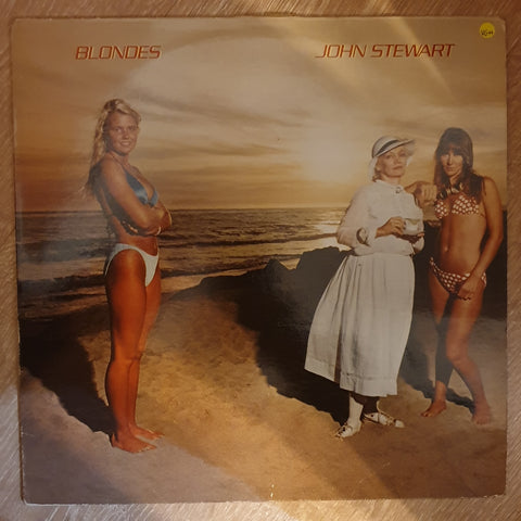 John Stewart ‎– Blondes - Vinyl LP  Record - Opened  - Very-Good+ Quality (VG+)