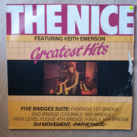 The Nice Featuring Keith Emerson ‎– The Nice  - Greatest Hits - Vinyl LP Record - Very-Good+ Quality (VG+)