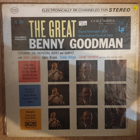 Benny Goodman, His Orchestra, Quartet and Sextet ‎– The Great Benny Goodman  ‎- Vinyl LP Record - Opened  - Very-Good- Quality (VG-) - C-Plan Audio