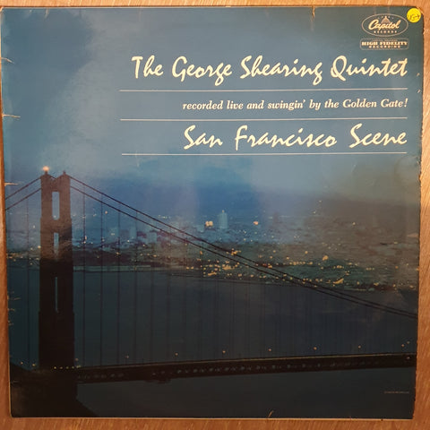 The George Shearing Quintet ‎– San Francisco Scene -  Vinyl LP Record - Very-Good+ Quality (VG+)