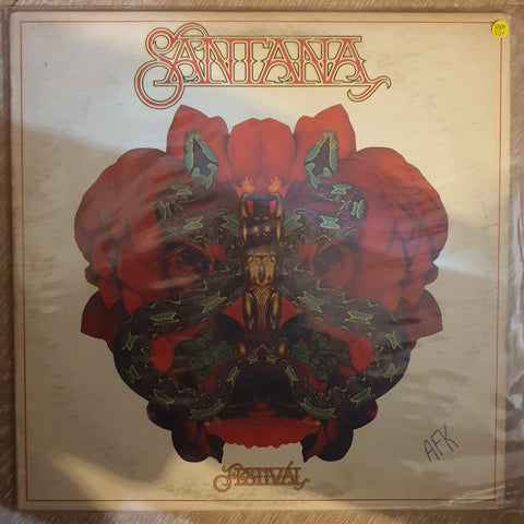 Santana ‎– Festival - Vinyl LP Record - Very-Good+ Quality (VG+)