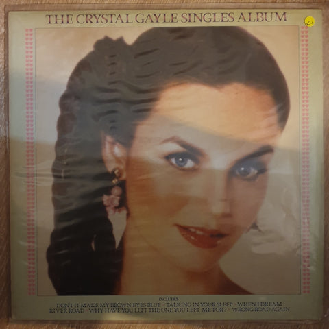 Crystal Gayle ‎– The Crystal Gayle Singles Album - Vinyl LP Record - Very-Good+ Quality (VG+)