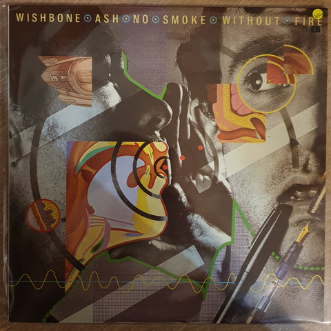 Wishbone Ash ‎– No Smoke Without Fire - Vinyl LP Record - Very-Good+ Quality (VG+)