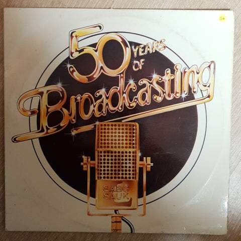 SABC 50 Years of Broadcasting  - Vinyl LP Record - Opened  - Good+ Quality (G+)