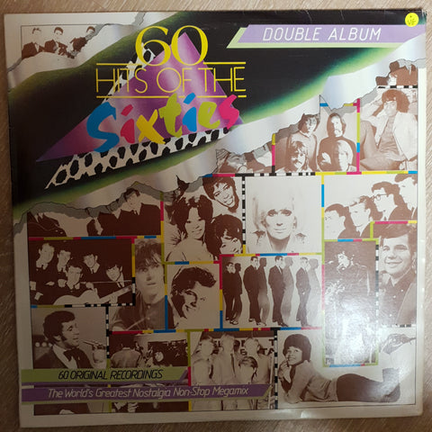 60 Hits of the Sixties - Double Vinyl LP Record - Opened  - Very-Good Quality (VG) - C-Plan Audio