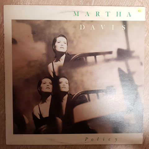 Martha Davis ‎– Policy - Vinyl Record - Very-Good+ Quality (VG+)